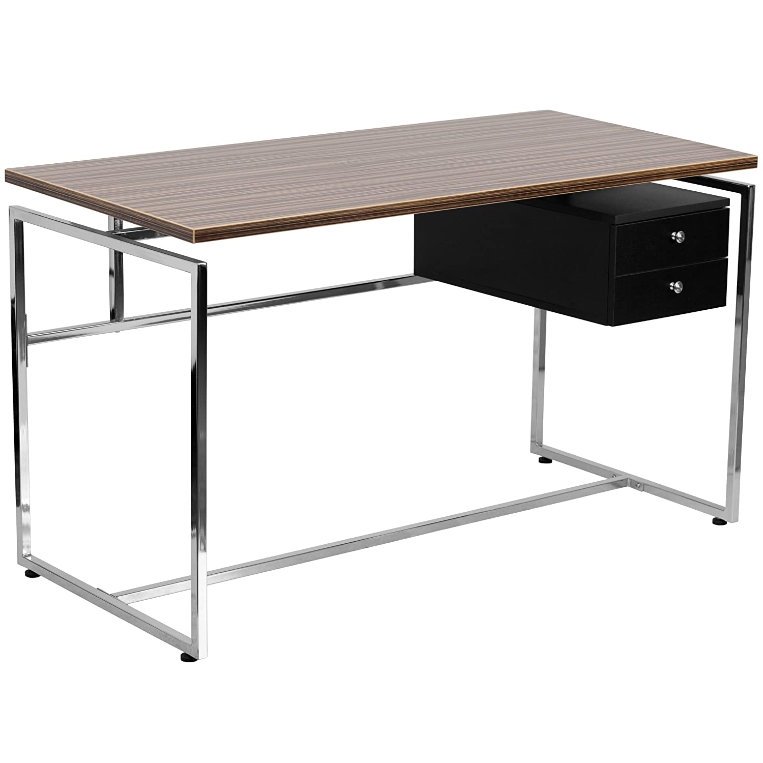 Flash Furniture Computer Desk with Two Drawer Pedestal
