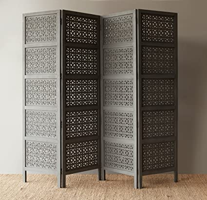 Craftatoz Wooden Partitions Wood Room Divider Partitions for Living