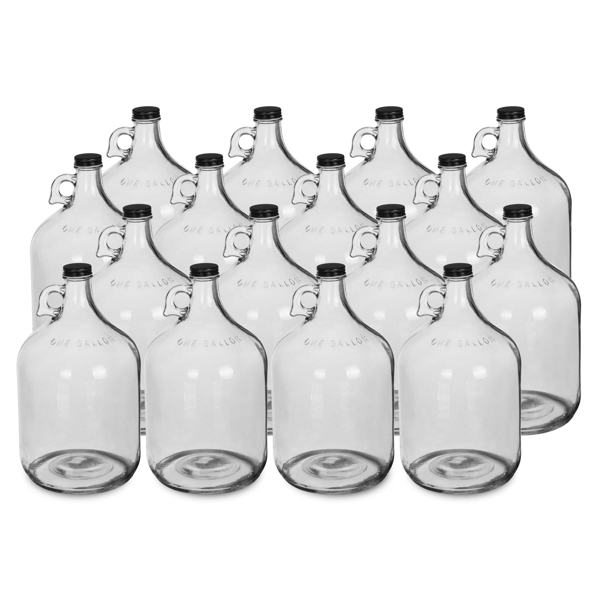 1 Gallon Glass Water Bottle Jug with 38 mm Screw Cap (16)