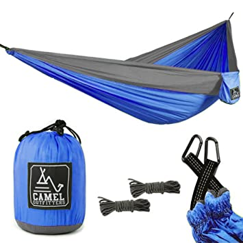 camel outfitters xl double nylon parachute camping hammock   lightweight portable with max 1000 lbs capacity amazon    camel outfitters xl double nylon parachute camping      rh   amazon