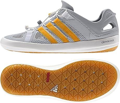 Adidas Climacool Boat Breeze Shoe - Men's Clear Onix/Lucky Orange/Mid Grey 11