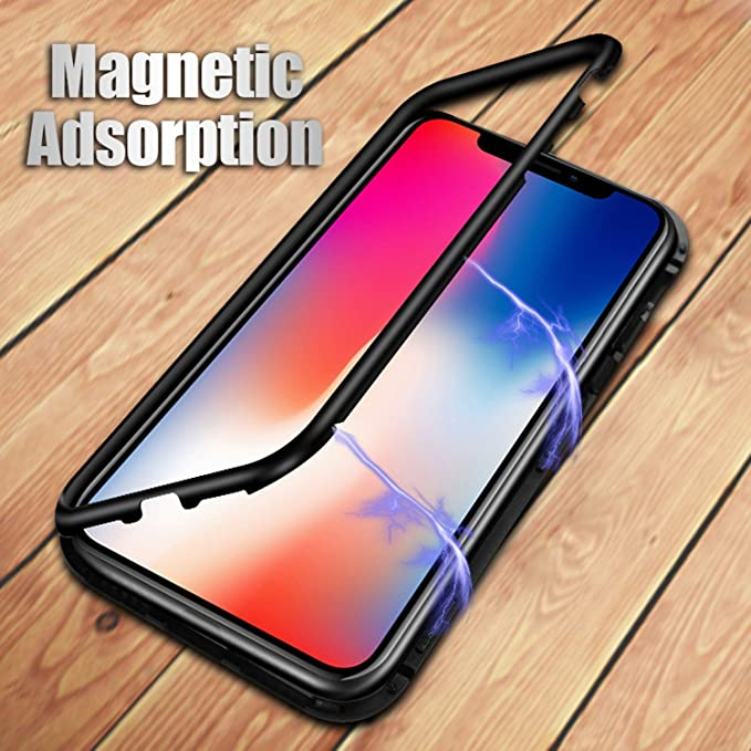 huge discount 3339d e2b02 Amazon.com: Magneto Magnetic Adsorption metal case for iphone X ...