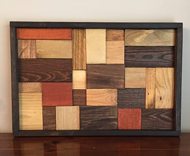 amazon com mosaic pallet wood wall art unique handmade item handmade rh amazon com wood wall hangings indian driftwood wall hangings
