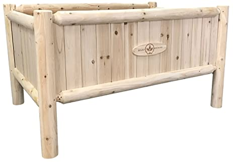 Raised Bed Home Gardening Kit: Rustic Planter Frame   Elevated Vegetable Garden  Beds   Short