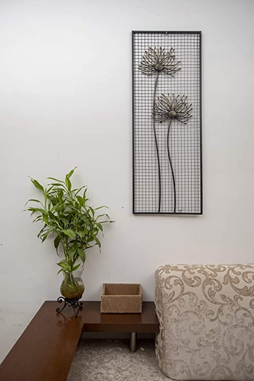 Buy Malhar Handicraft Minimalist Metal Floral Luxurious Wall Decor For Modern Home Decoration Kitchen Living Room Drawing Room 15 X 39 5 Inches Online At Low Prices In India Amazon In