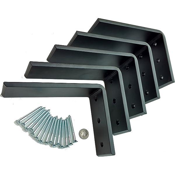 Large Stainless Steel Countertop Support Brackets Metal Corbels. Shelf Bracket