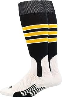 product image for MadSportsStuff Baseball Stirrup Socks 3 Stripe with Featheredge