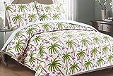 Panama Jack Flamingo Palm Quilt Set King