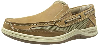 Margaritaville Footwear Men's Anchor Slip Boat Shoe, Light Tan, ...
