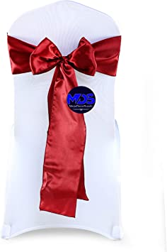 10 Table Runner Cloth Home Party Wedding Chair Sash Decoration Silk Cover Pack