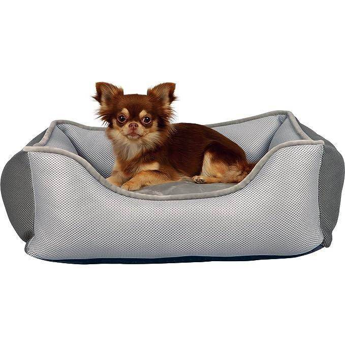 Trixie - Cama modelo Aiko para perros (90 × 80 cm/Gris Claro/