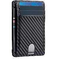 T Tersely Credit Card Holder for Men, Minimalist Slim Wallet RFID Blocking Front Pocket Secure Thin Credit Card Holder…