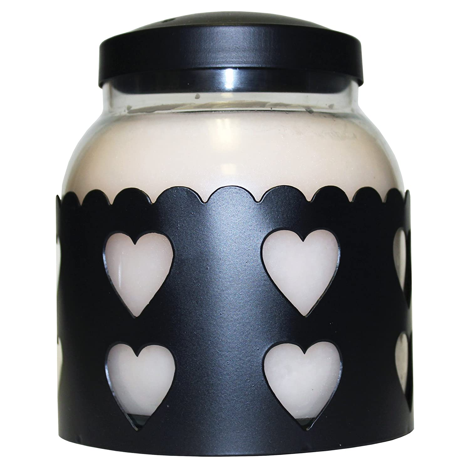 A Cheerful Giver Black Heart Candle Sleeve, Large CA37