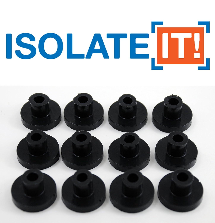 """Isolate It!: Sorbothane Vibration Isolation Bushing 50 Duro (.25"""" ID - 1"""" OD - .6"""" Deep) - 12 Pack"""
