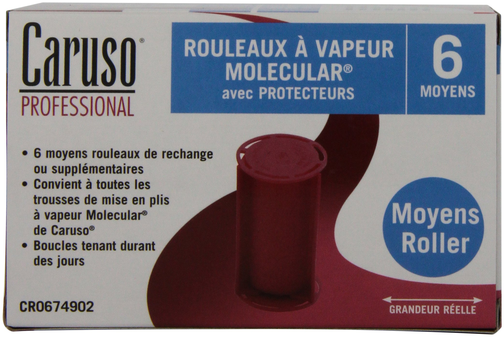 Caruso Professional Molecular Steam Rollers with Shields, Medium (6-Pack) by Caruso (Image #3)