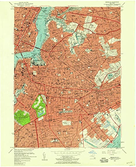 Amazon Com Yellowmaps Brooklyn Ny Topo Map 1 24000 Scale 7 5 X