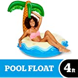 BigMouth Inc Giant Inflatable Palm Tree Pool Float, Funny Inflatable Vinyl Summer Pool or Beach Toy, Patch Kit Included