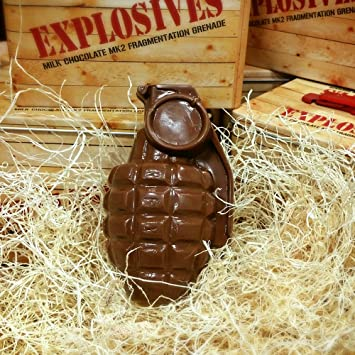 Chocolate Grenade - Full Size MKII Solid Chocolate Hand Grenade in Tin