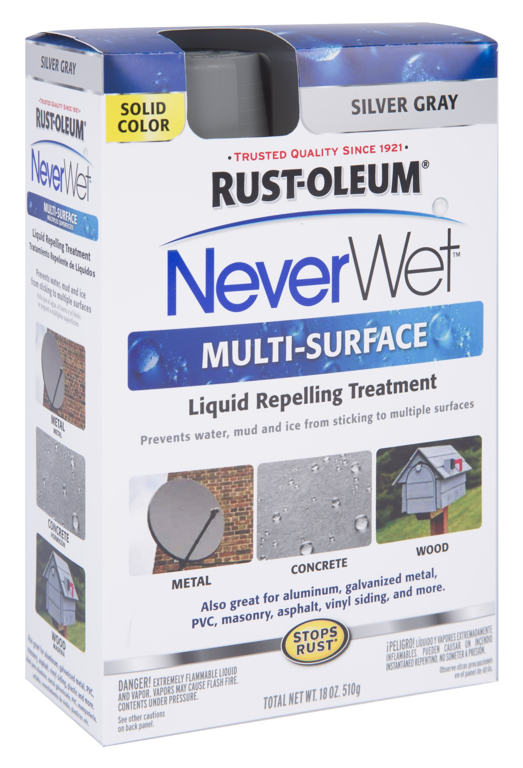 Rust-Oleum 275619 Never Wet Multi Purpose Kit, Silver Gray