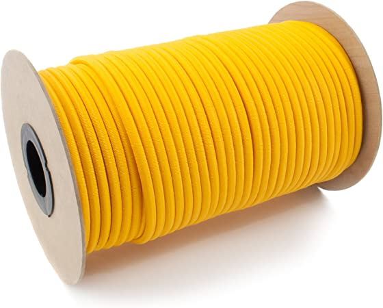 DQPP 50m cuerda el/ástica goma 8mm amarillo atar