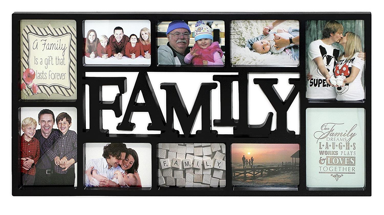 Close Up 3D Fotorahmen Family für 10 Fotos- Qualität Collage ...