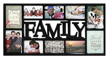 Portaretratos Tamaño XL - Family/Familia [Negro] (73cm x 37cm)