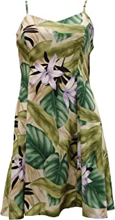 product image for Paradise Found Womens Orchid Jungle Princess Seam Mini Sundress in Green - XS