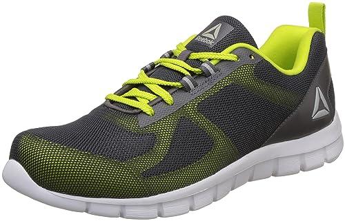 8f1a6385d28679 Reebok Men s Super Lite 2.0 Ash Grey Semisolar Yellow Running Shoes-6 UK