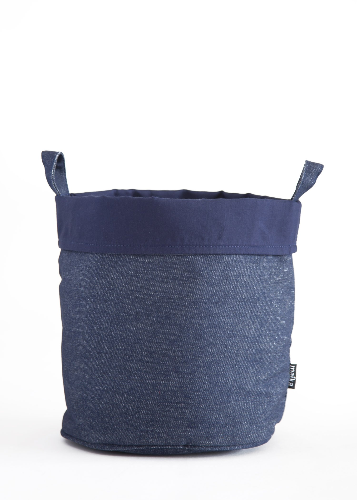 Maika Recycled Canvas Bucket, Indigo Denim (Large)