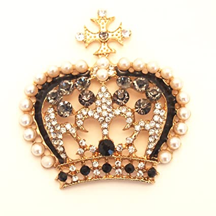 Amazon Com 1 Pc Of Beautiful Crown Cabochons For Diy Bling Mobile
