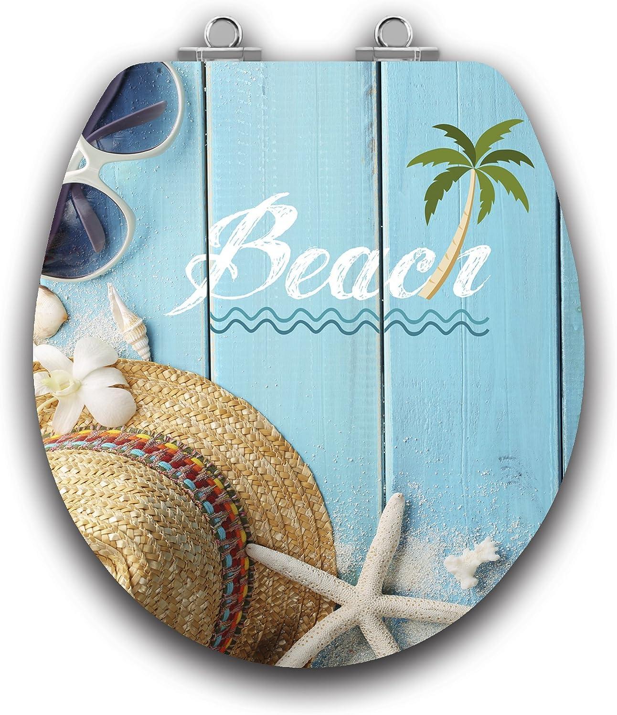 Beach Acryl Round Toilet Seat