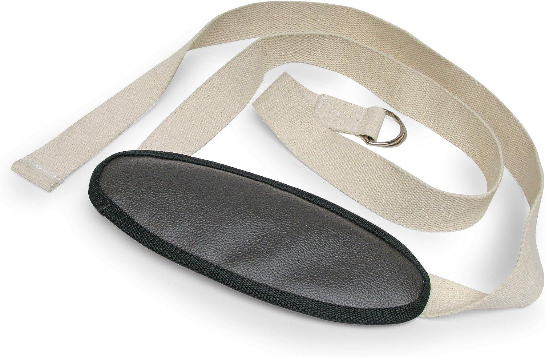 Amazon Com Gaiam Premium Padded Yoga Strap Pilates Ring Sports Outdoors