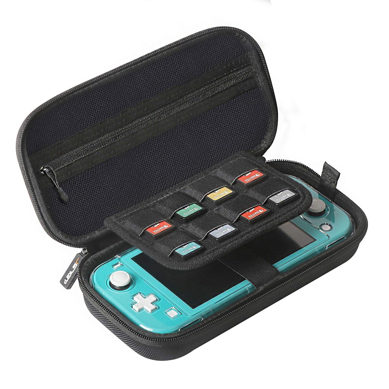 Hard Nintendo Switch Lite Case JSVER Slim Compact Carrying Case for Nintendo Switch Lite Protective Travel Storage Bag Compatible with Nintendo Switch Lite Games & Accessories (Black)