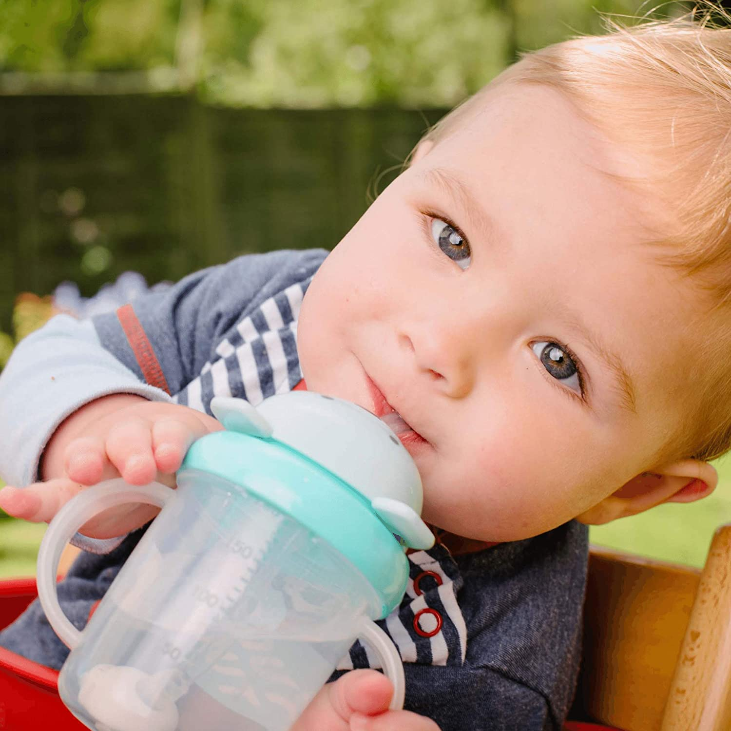 TUM TUM Tippy Up Sippy Cups Toddler Cups with Straw x 2 Plus 2 Spare Straws