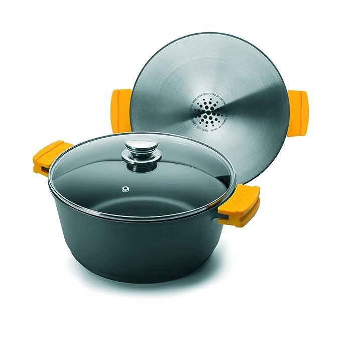 Ibili 461120 - Olla con tapa (Evolution aluminio fundido negro, forja, negro, 20 x 20 x 9 cm: Amazon.es: Hogar