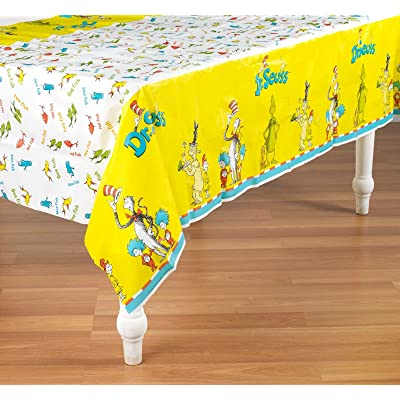 Birthday Express Dr. Seuss Classic Plastic Table Cover: Toys & Games