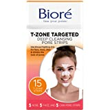 Biore Blackhead eliminating targeted pore strips, t-zone - 5 nose + 5 face + 5 chin
