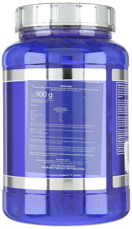 Scitec Nutrition Night Pro proteína vainilla 900 g: Amazon.es: Salud y cuidado personal