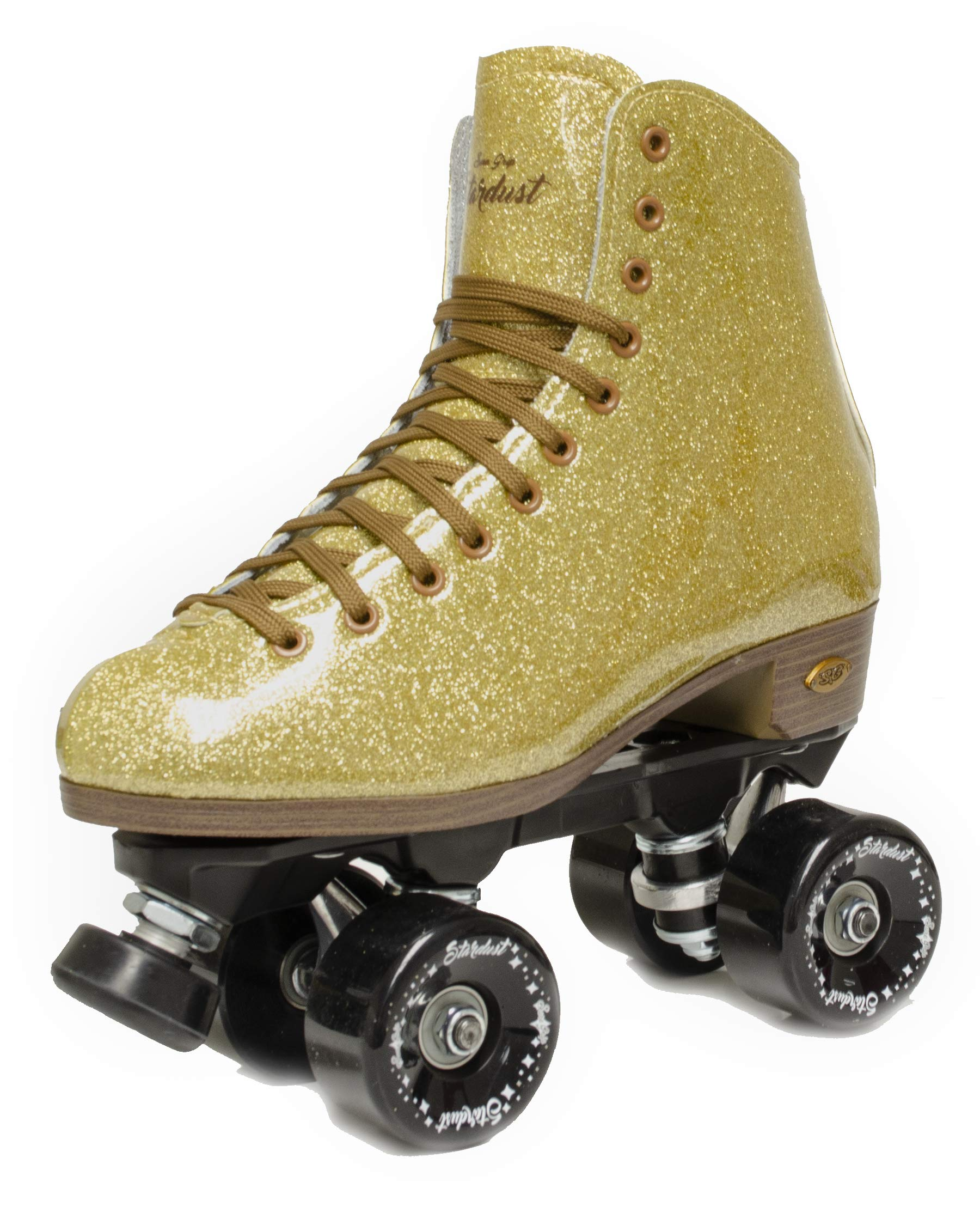 Sure-Grip Stardust Glitter Roller Skate (Gold, Mens 9 / Ladies 10)