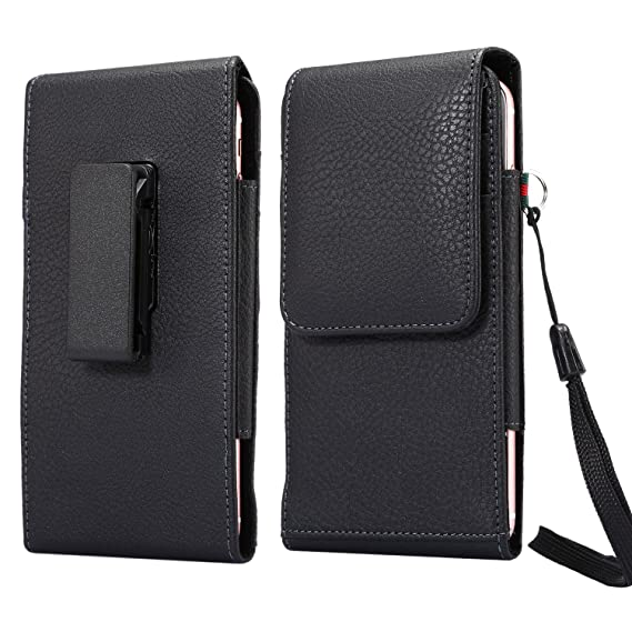Z2 Play//LG G6 S8 Active//Motorola Moto G5s Plus//Moto E4 Plus S8 Plus Leather Vertical Executive Holster Belt Clip Pouch Case for iPhone X//iPhone 8 Plus//Samsung Galaxy Note 8 LG V30