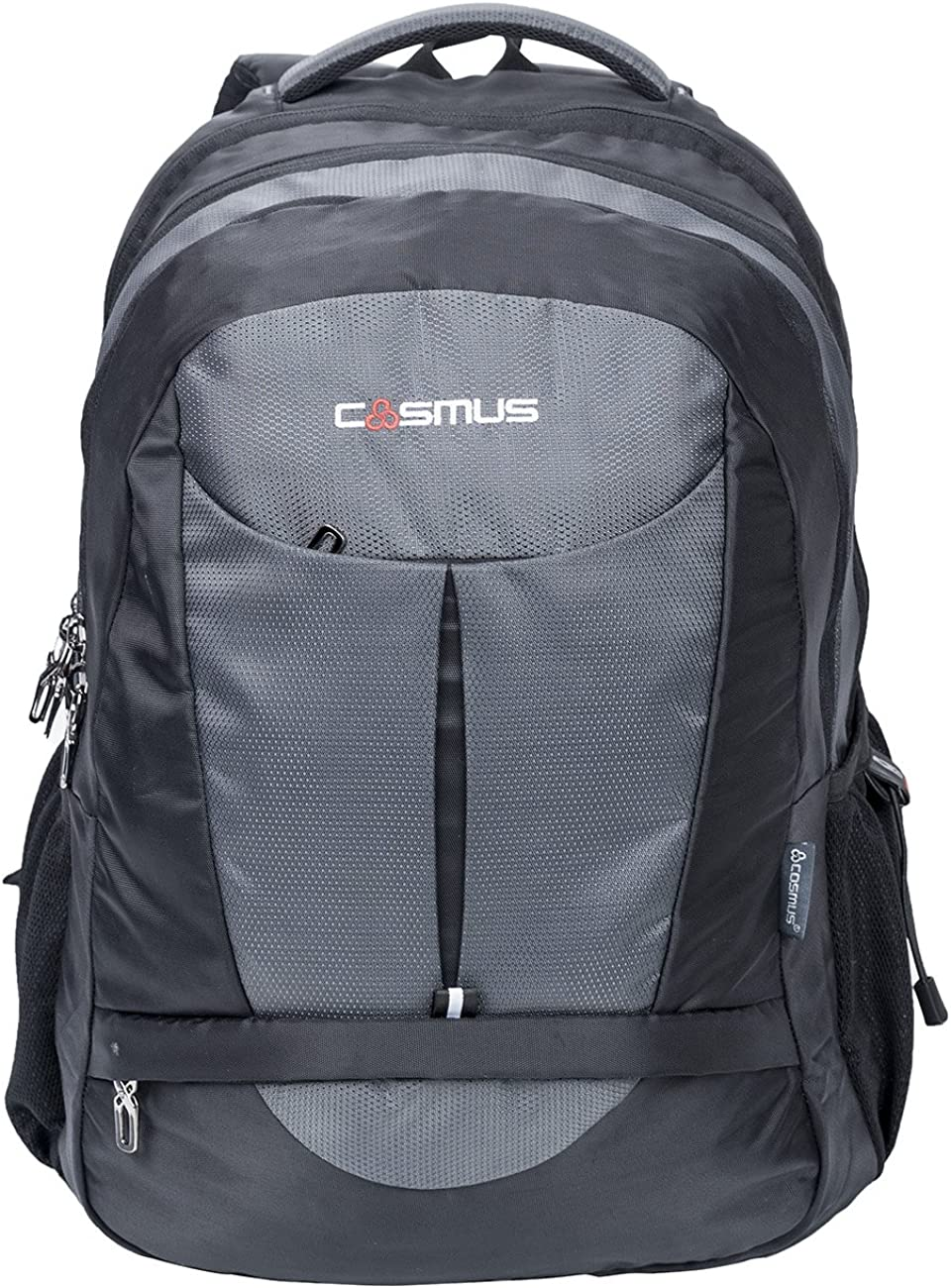 Cosmus Eden DX Black - Grey Polyester Waterproof Large Laptop Backpack