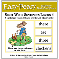 Sight Word Sentences Lesson 4: 5 Sentences Teach 20 Sight Words with Flash Cards (Learn to Read Sight Words) (English Edition)