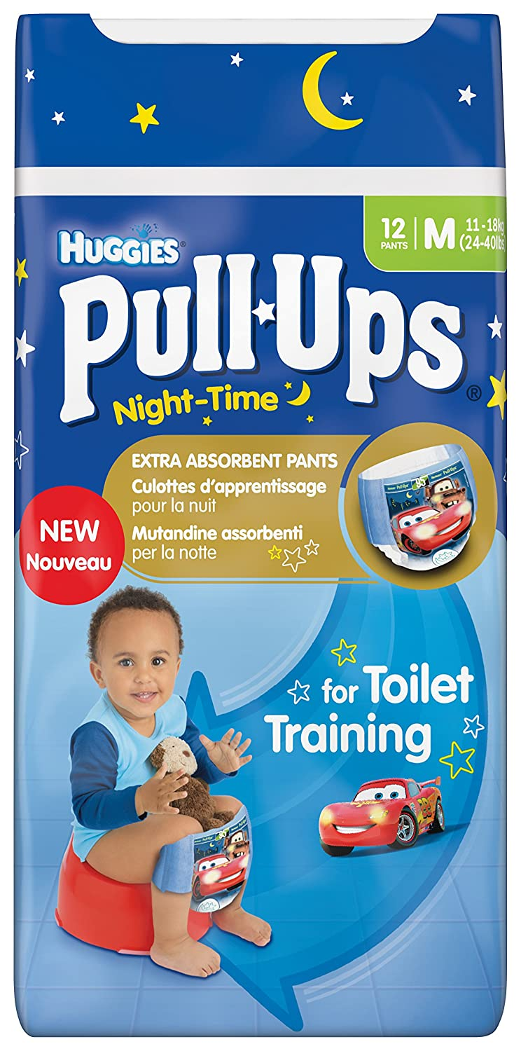Huggies Night-Time Pull-Ups Disney Cars Design Size 5 (24-40lbs/11-18kg) Nappies - 3 x Packs of 12 (36 Pants) BabyLand 2918571