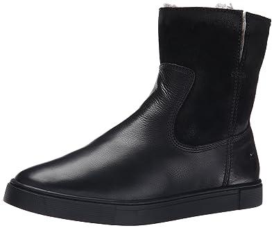 FRYE Women's Gemma Short Shearlingsvlos Winter Boot, Black, ...