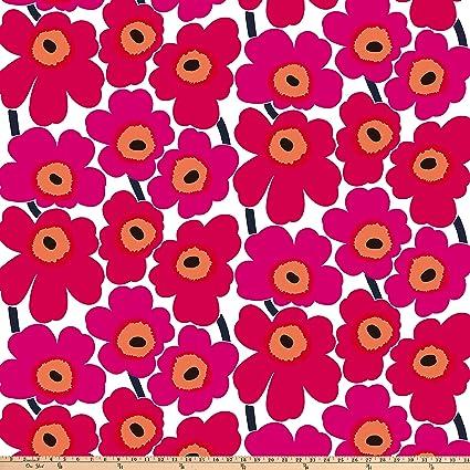 6fa0794e4ea Amazon.com: Marimekko Pieni Unikko Cotton Fabric, Pink, Fabric By ...
