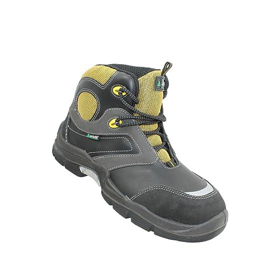 Cuir Artelli De Chaussures De Protection Pour Les Hommes, Couleur Noire, Taille 38
