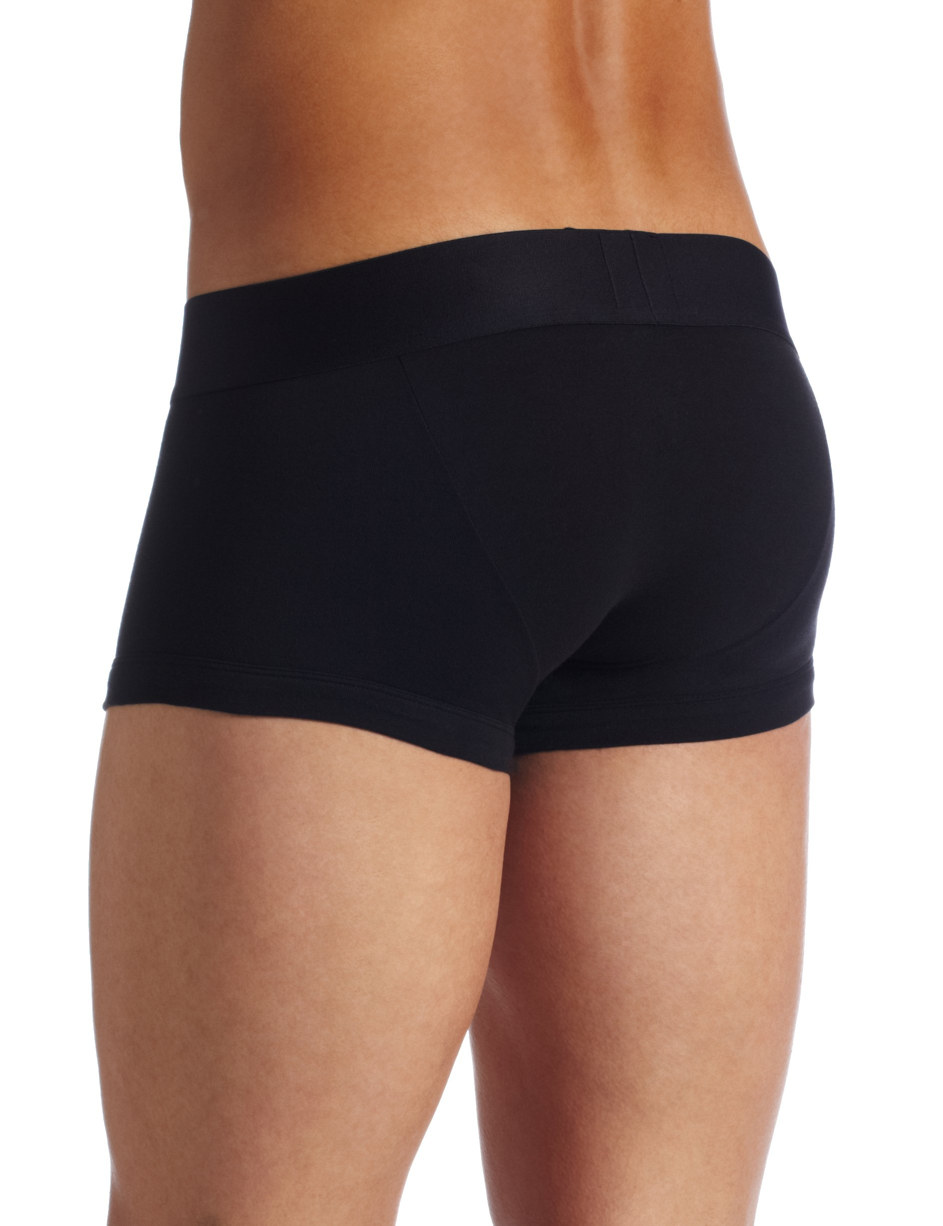 Galleon Emporio Armani Men S Cotton Stretch Trunk Black