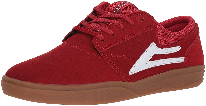Lakai Griffin XLK Skate Shoe B073SPGB38 8.5 M US Red/Gum Suede