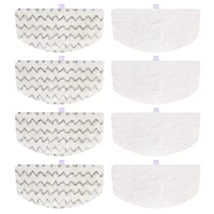Isingo 8 Pack Steam Mop Pads Compatible Bissell PowerFresh 1806 1940 1544 1440 Series, Replacement Part Model #5938#203-2633