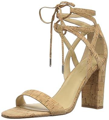 a9186ea67c51 Marc Fisher Women s Fatima Heeled Sandal Natural 10 Medium US